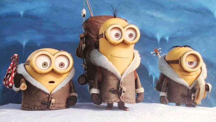 Bob, Kevin y Stuart en Los Minions