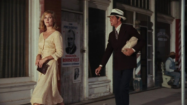 Faye Dunawa y Warrent Beatty en Bonnie & Clyde