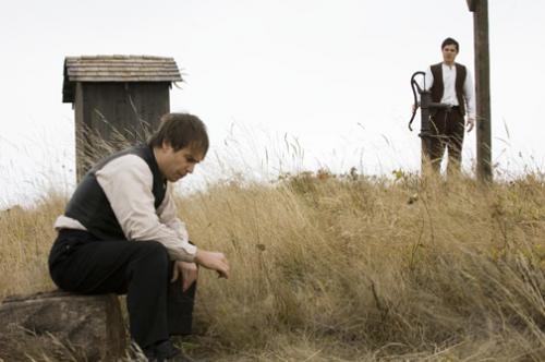 Sam Rockwell y Casey Affleck en El Asesinato de Jesse James por el Cobarde Robert Ford