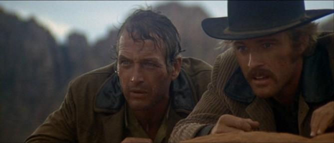 Paul Newman y Robert Redford en Dos Hombres y un Destino