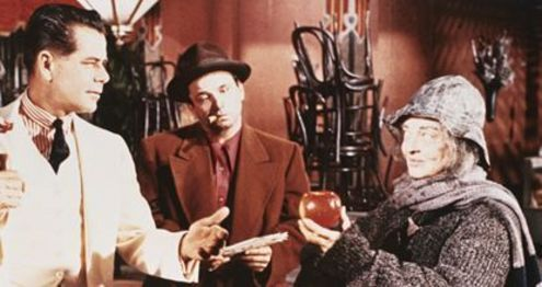 Glenn Ford, Peter Falk y Bette Davis en Un Gangster Para un Milagro
