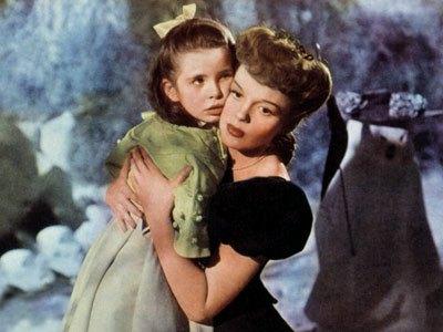 Margaret O'Brien y Judy Garland en Cita en San Luis