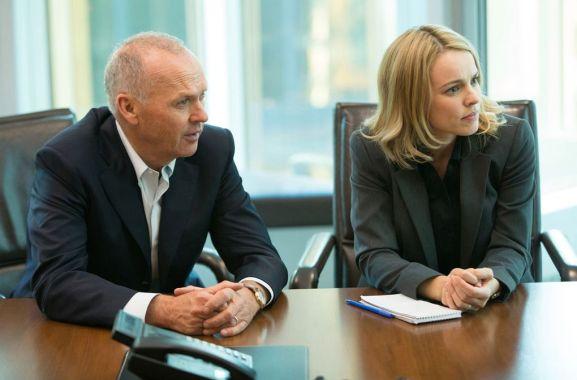 Michael Keaton y Rachel McAdams en Spotlight