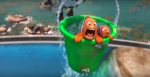 Marlin y Nemo en Buscando a Dory