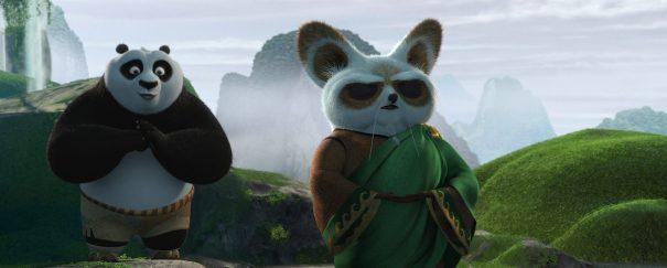 Po y Shifu en Kung Fu Panda 2
