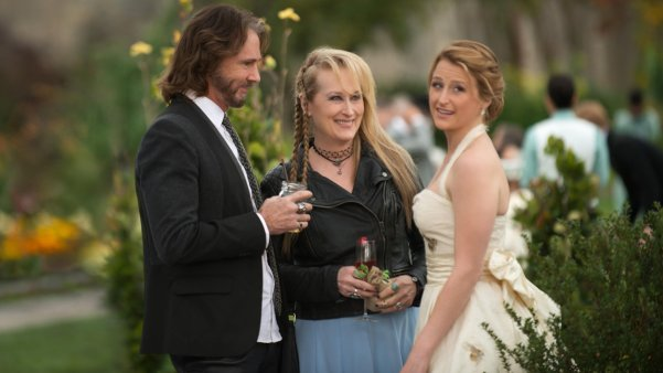 Rick Springfield, Meryl Streep y mamie Gummer en Ricki and The Flash
