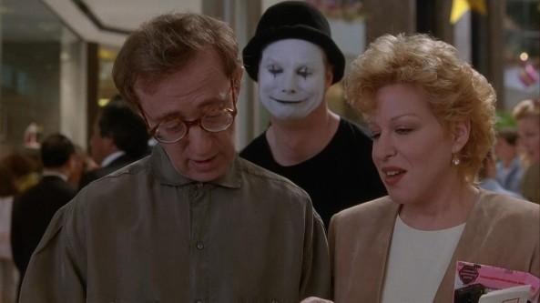 Woody Allen, Bill Irwin y Bette Midler en Escenas en una Galería