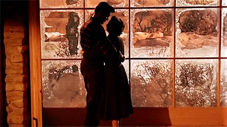 Rock Hudson y Jane Wyman en Solo el Cielo lo Sabe