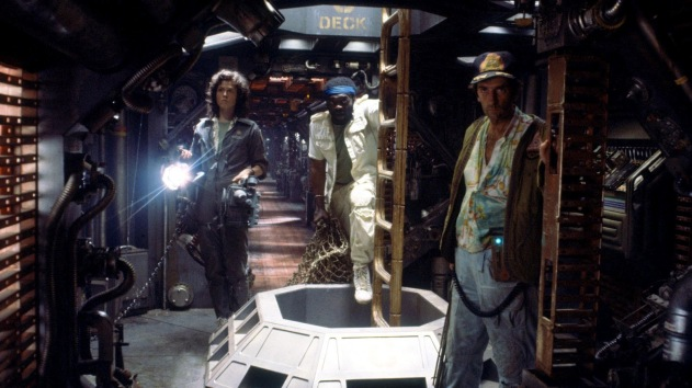 Sigourney Weaver, yaphet Kotto y harry Dean Stanton en Alien