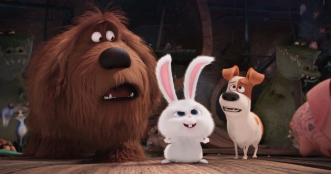 Max, Duke y Snowball en Mascotas