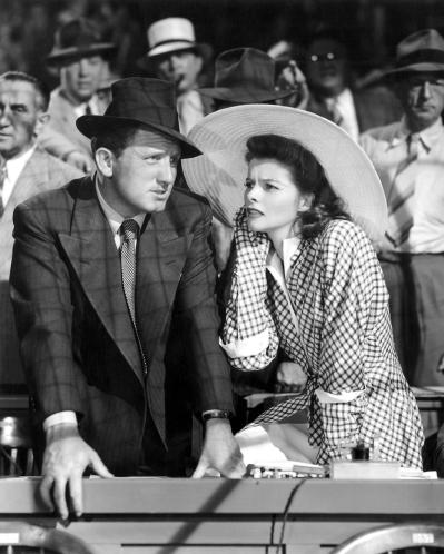 Spencer Tracy y Katharine Hepburn en La Mujer del Año
