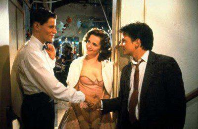 George, Lorraine y Marty en Regreso al Futuro