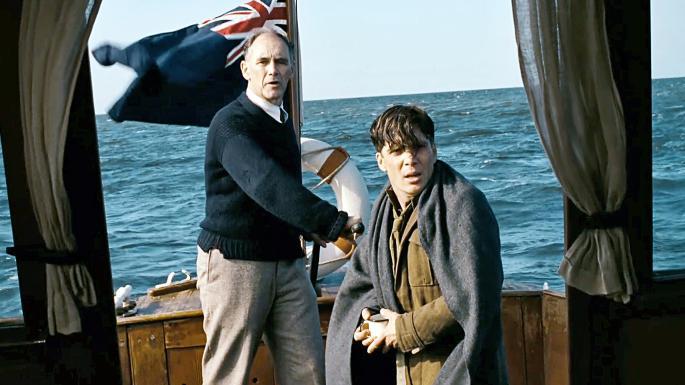 Mark Rylance y Cillian Murphy en Dunkerque