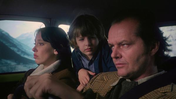 Shelley Duvall, Danny Lloyd y Jack Nicholson en El Resplandor