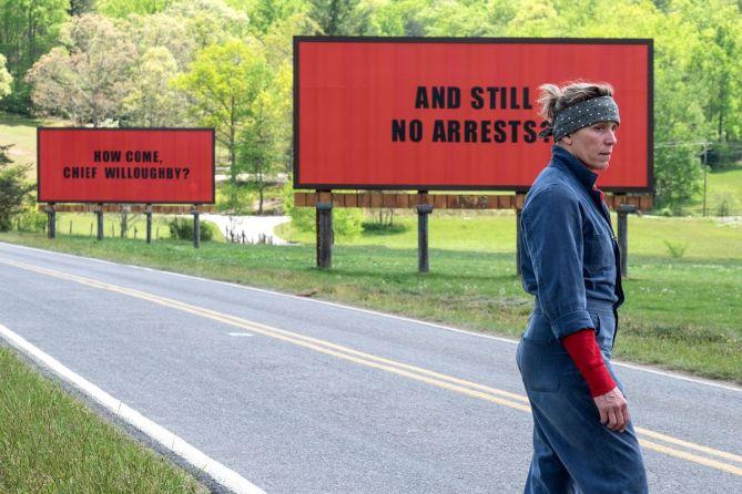 Frances McDormand en Tres Anuncios en las Afueras