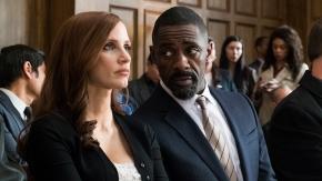 Jessica Chastain y Idris Elba en Molly's Game