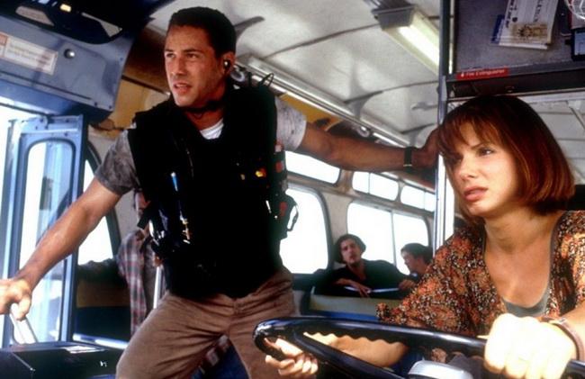 Keanu Reeves y Sandra Bullock en Speed
