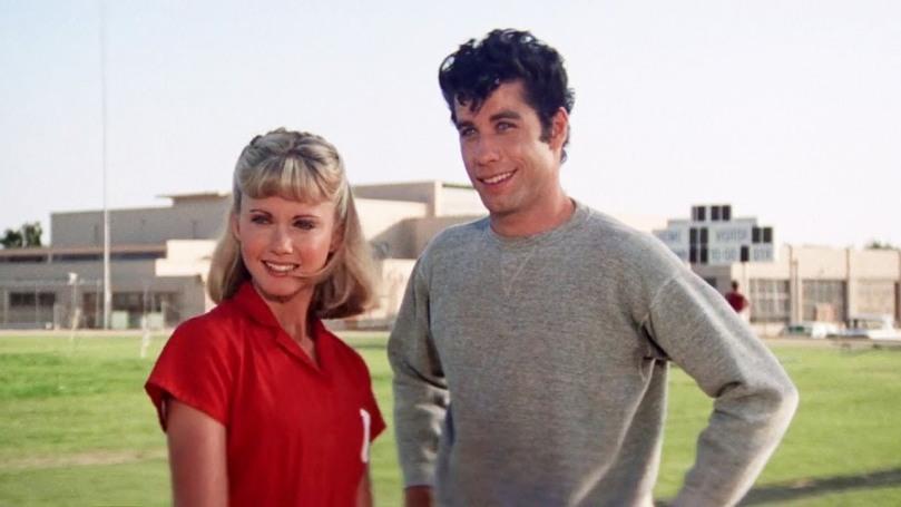 Olivia Newton-John y John Travolta en Grease