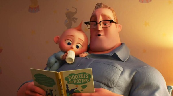 Jack-Jack y Bob en Los Increíbles 2