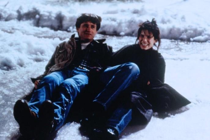 Bill Pullman y Sandra Bullock en Mientras Dormías