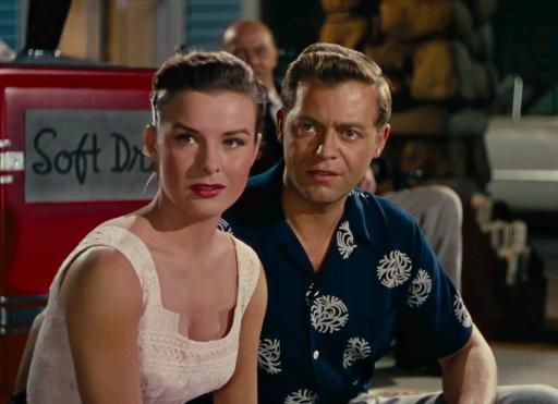 Jean Peters y Casey Adams en Niágara