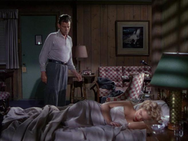 Joseph Cotten y Marilyn Monroe en Niágara