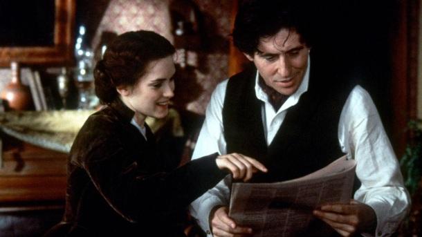 Winona Ryder y Gabriel Byrne en Mujercitas, 1994