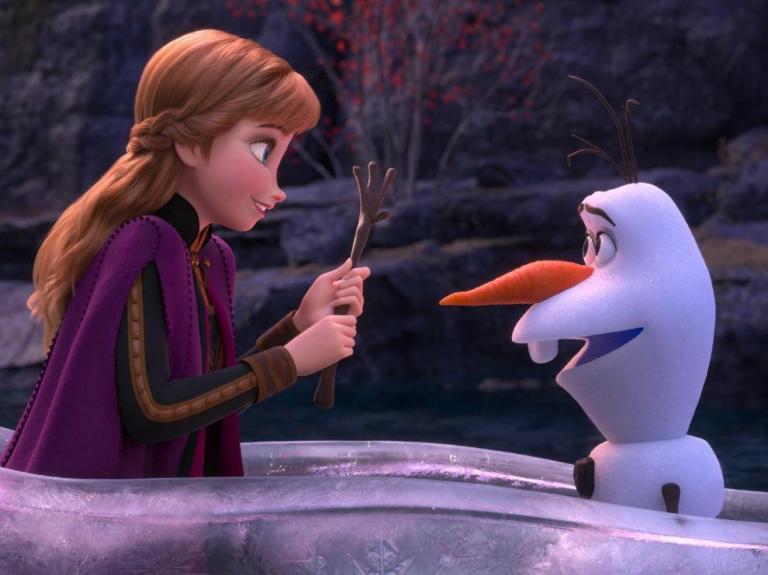 Anna y Olaf en Frozen 2