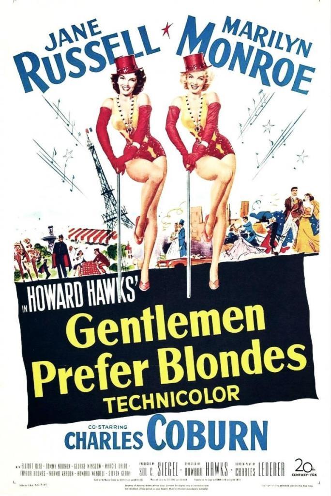 Poster de Los Caballeros las Prefieren Rubias
