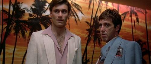 Steven Bauer y Al Pacino en Scarface