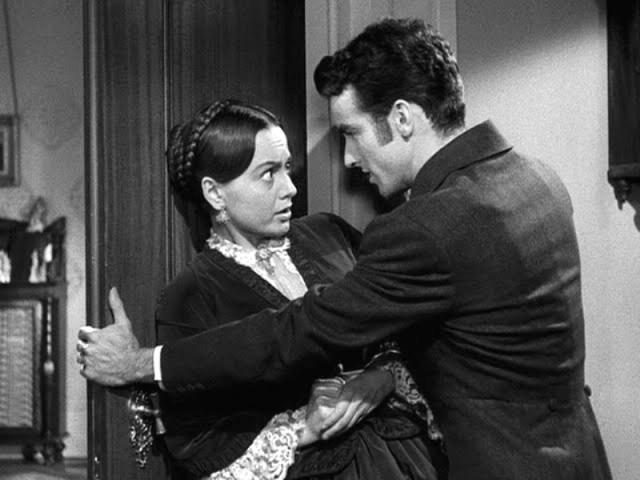 Olivia de Havilland y Montgomery Clift en La Heredera