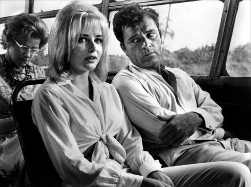 Sue Lyon y Richard Burton en La Noche de la Iguana