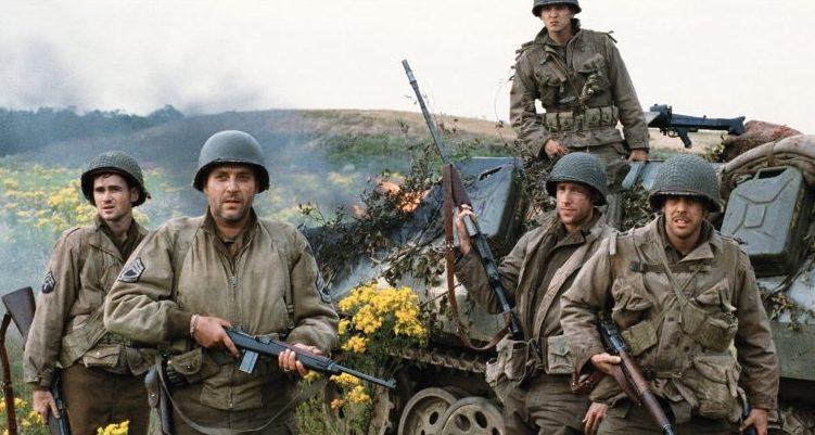 Soldados en Salvar al Soldado Ryan