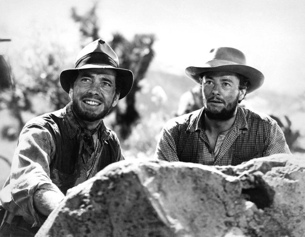 Humphrey Bogart y Tim Holt en El Tesoro de Sierra Madre